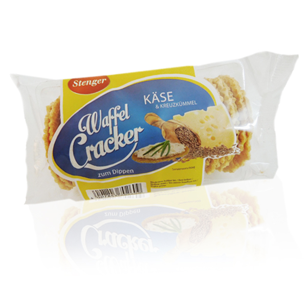 Stenger-Waffel-Cracker-Käse-Kreuzkümmel