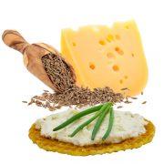Stenger-Waffel-Cracker-Käse-Kreuzkümmel-Serviervorschlag